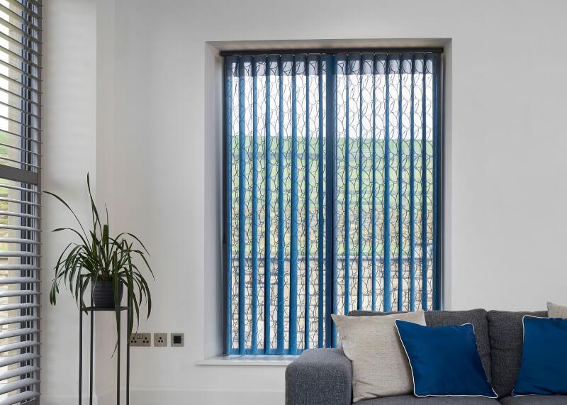 Fabric Vertical Blinds Open