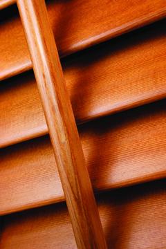 Paulownia wooden shutters