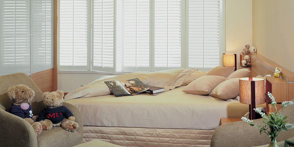 Bedroom MDF Window Shutters