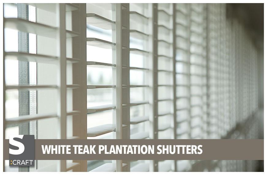 Shutters Made From White Teak