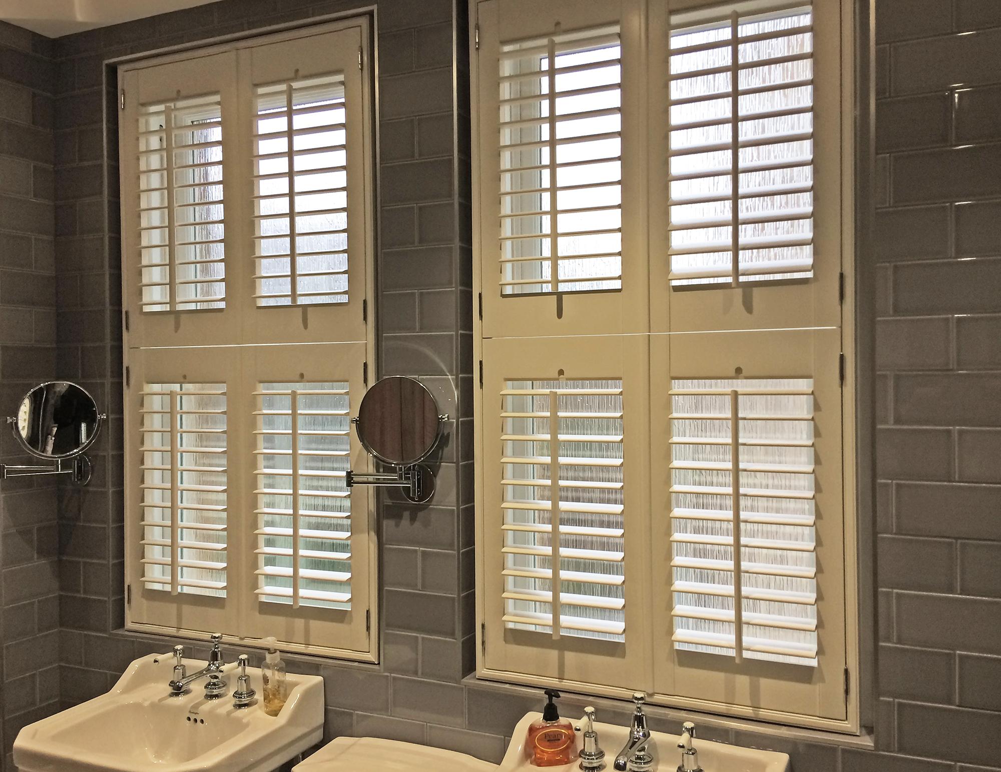 Home shutter gallery tier on tier shutters tier on tier shutters - Tier On Tier Bathroom By Southwest Shutters