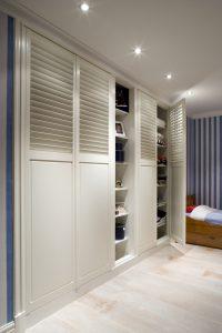 Wardrobe door shutters