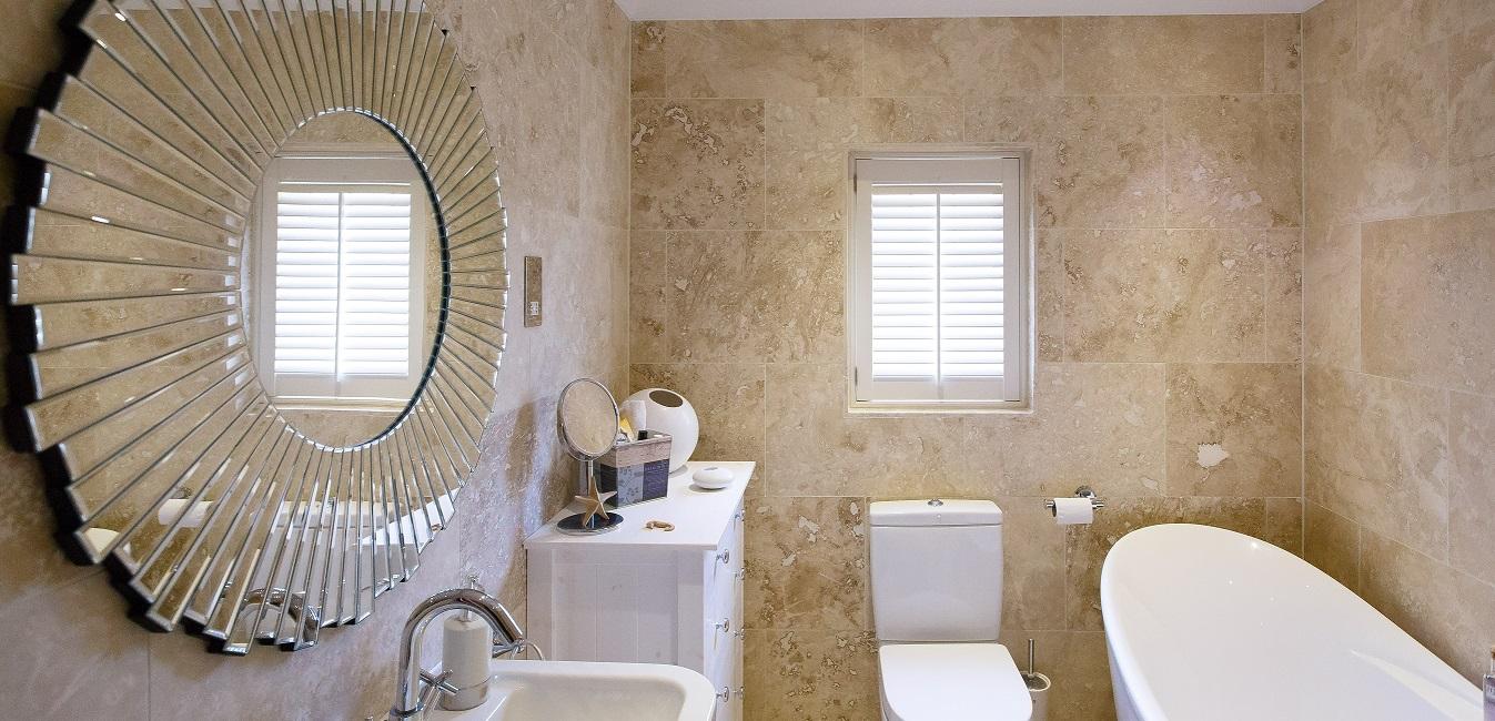 small bathroom window shutters