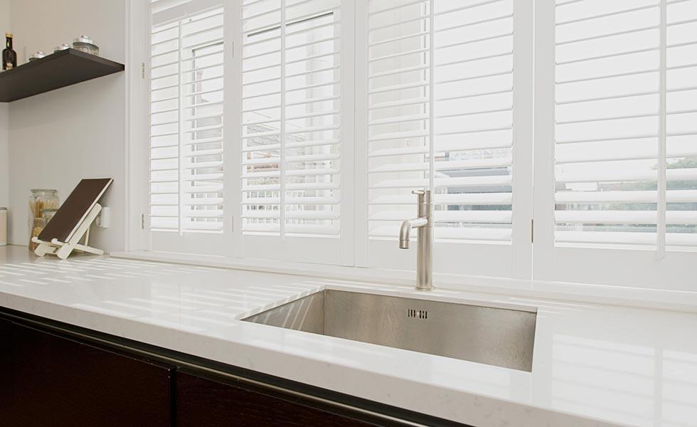 image of white kitchen shutters